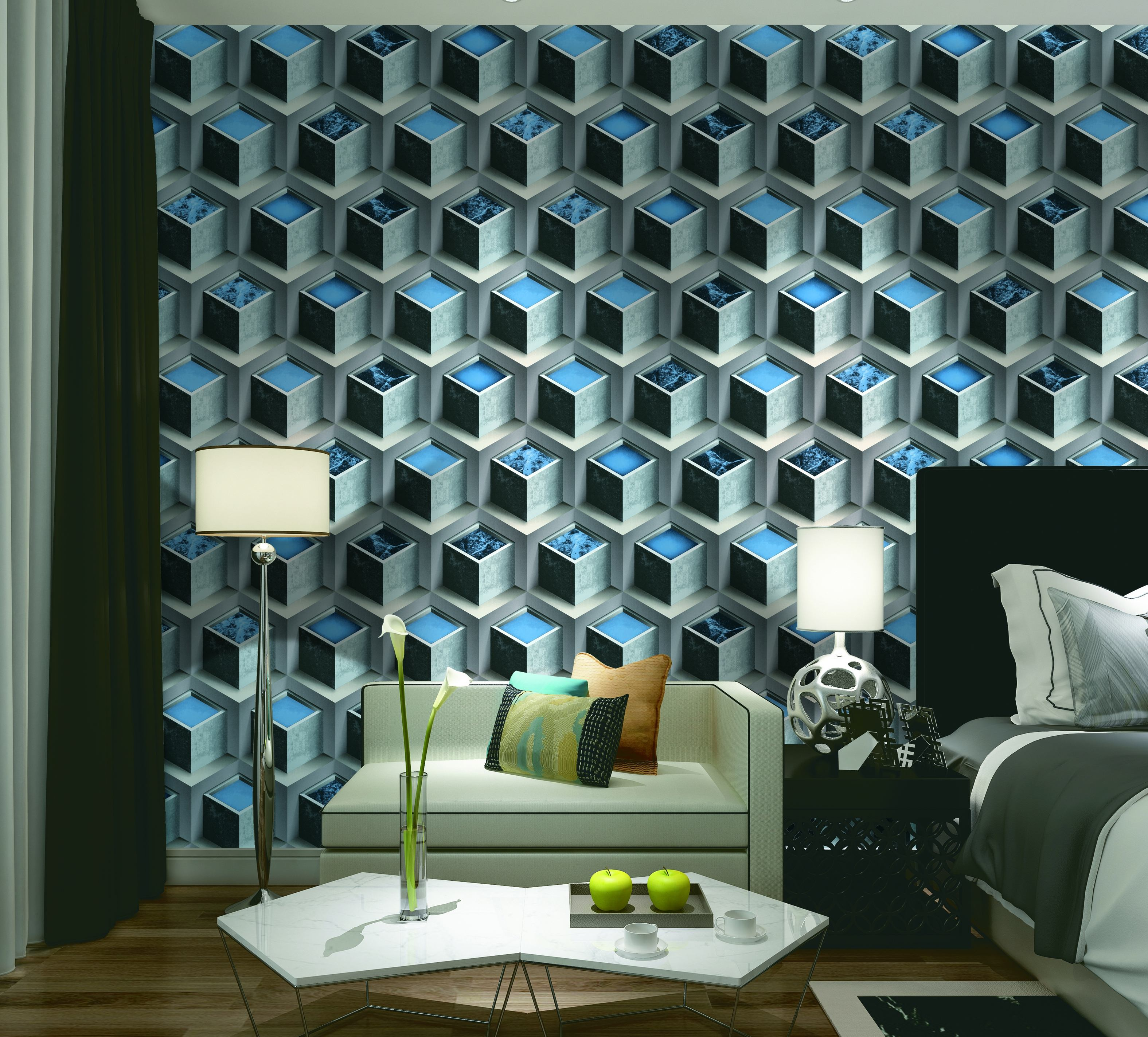 3D IMPORTED WALLPAPER FOR HOUSE RH-MC33077