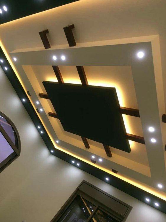 False Ceiling Living Room Simple